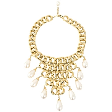 Chanel 2006 statement gold & baroque pearl vintage necklace