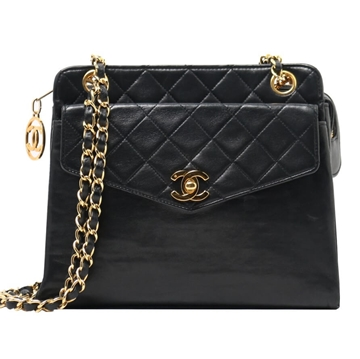 Chanel Turn-Lock Mini black vintaghe Tote Bag