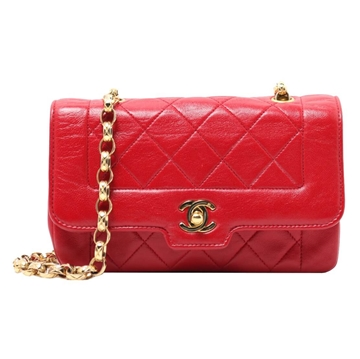Chanel Mini Bijou red vintage shoulder bag