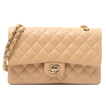 Chanel Caviar 25cm beige vintage shoulder bag