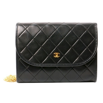 Chanel COCO Mark black vintage Shoulder Bag