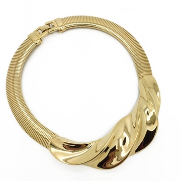 GIVENCHY 1990s GOLD TONE COLLAR