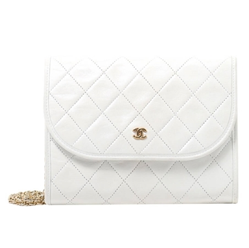 Chanel CC Mark Plate white vintage Shoulder Bag