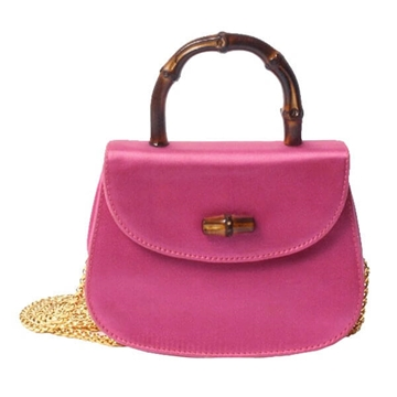 Gucci silk satin bright pink vintage bag