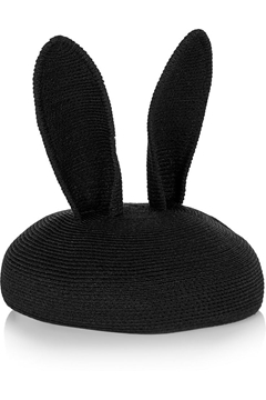 Picture of Eugenia Kim Black EARS WOVEN VINTAGE Fascinator HAT