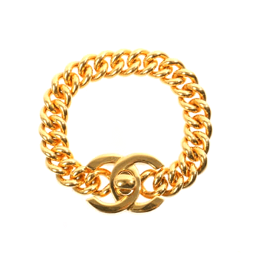 Chanel 1990s interlocking C's gold tone vintage bracelet