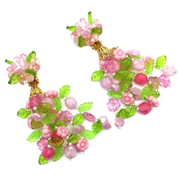 CHRISTIAN DIOR 1967 FLOWER POWER CHANDELIER vintAGE EARRINGS