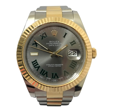 Rolex Datejust two tone vintage mens watch