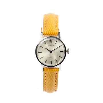 ROLEX Precision Silver & Yellow vintage ladies watch