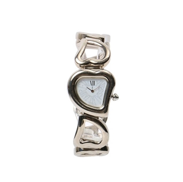 Ysl Heart shape Logo Silver & Off white vintage ladies watch