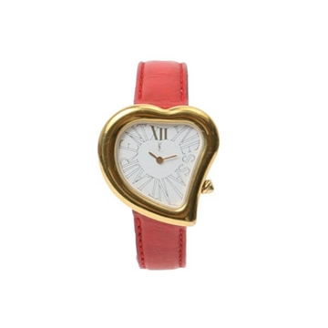 Yves Saint Laurent Heart Shaped Red Vintage Watch