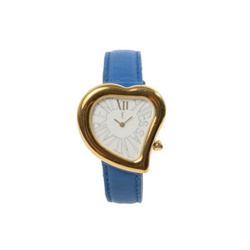 Ysl Heart Face Logo Blue vintage ladies watch
