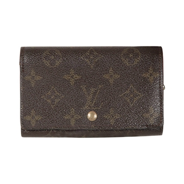 Louis Vuitton Tresor Monogram Canvas Brown Vintage Wallet Coin Purse