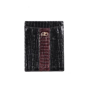 Gucci Crocodile Skin Navy Blue Vintage Wallet