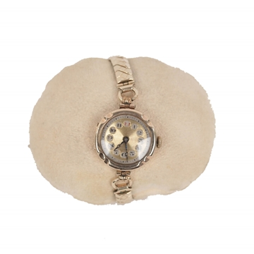 Vintage 1930s Swiss Made 9ct Gold English Ladies Wrist Watch