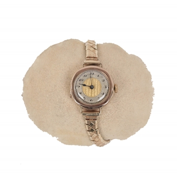 Vintage 1930s 375 9 Ct Gold English Ladies Wrist Watch
