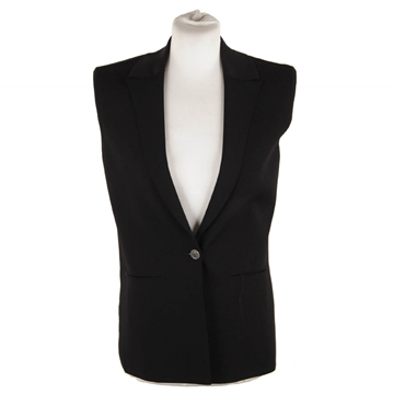 Chanel Sleeveless Jersey Black Vintage Jacket