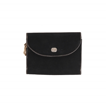 Gucci Vintage Black Fabric Evening Clutch With Chain Strap