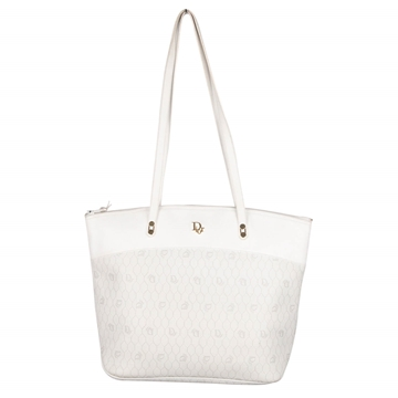 Christian Dior Logo Canvas white vintage Tote Shoulder Bag
