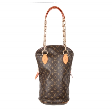 Louis Vuitton By Karl Lagerfeld Rare Monogram Brown Vintage Punching Bag Handbag