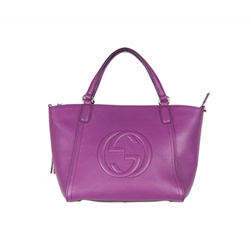 Gucci Purple Leather Soho Tote vintage top handle bag