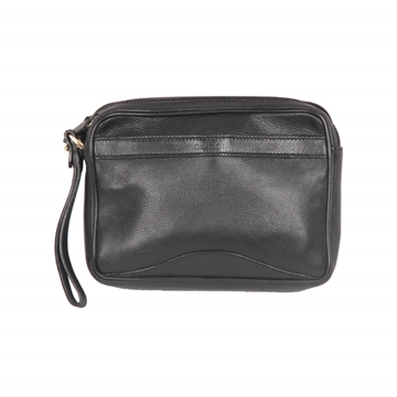 Gucci Black Leather vintage Wrist Bag