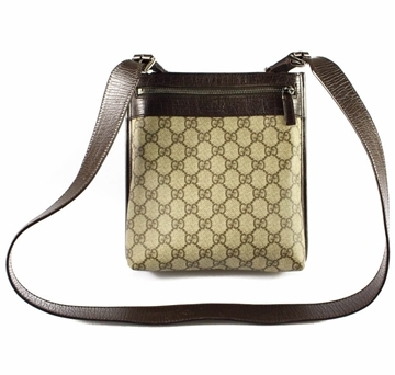 Gucci GG Monogram Brown Vintage Cross Body Bag