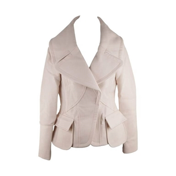 Versace Oversized Collar  Wool Blend  Ivory Vintage Jacket