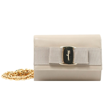 Salvatore Ferragamo Vara Ribbon Ivory Vintage 3 Way Bag