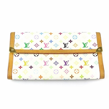 Louis Vuitton Multicolor Porte Tresor white vintage Wallet