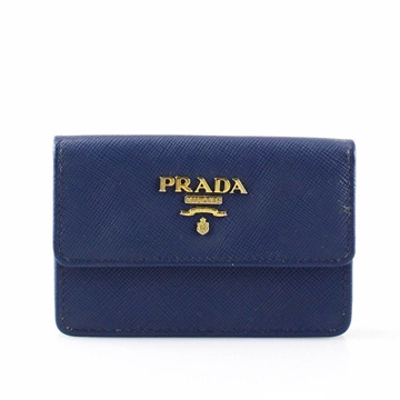 Prada Blue Saffiano Leather Small vintage Wallet
