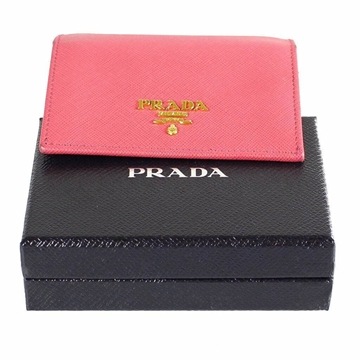 Prada Saffiano Leather pink vintage Card Holder