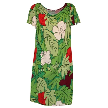 Moschino Fantasy multicolour green vintage dress