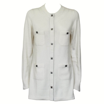 Chanel Cashmere cream vintage cardigan