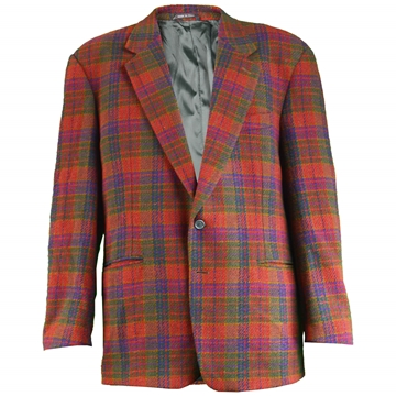 Missoni 1980s Mens Checked Italian Wool Vintage Blazer