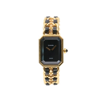 Chanel Premiere Mdium Size gold & black vintage watch