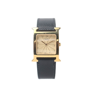 Hermes H shaped gold tone vintage ladies watch