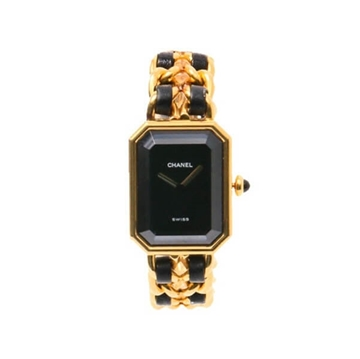 CHANEL Premiėre Gold tone & Black small size vintage ladies watch