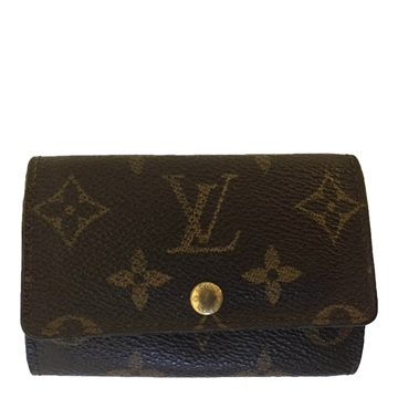 Louis Vuitton key holder monogram canvas vintage wallet