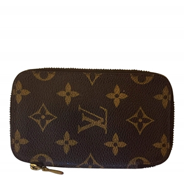 Louis Vuitton key holder with zipper monogram canvas wallet