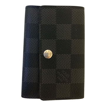Louis Vuitton key holder damier graphite vintage wallet