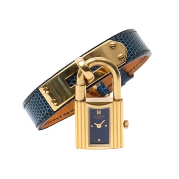 Hermes Kelly blue marine vintage watch