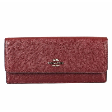 Coach Caviar Leather Wine Red Vintage Wallet