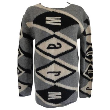 Moschino 1980s Iconic Warm & Cool Grey Vintage Jumper