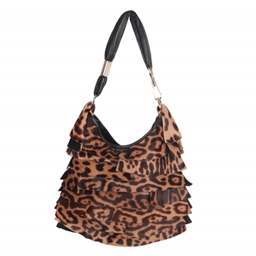 Yves Saint Laurent Pony Hair Leopard St Tropez vintage hobo bag