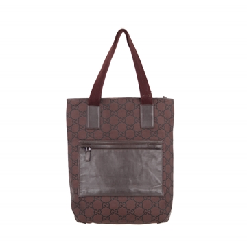 Gucci Italian Brown Gg Monogram Canvas Tote bag
