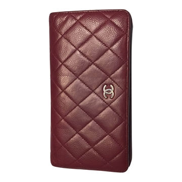 Chanel caviar leather burganudy vintage ladies wallet