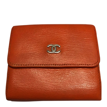 Chanel leather orange vintage ladies wallet