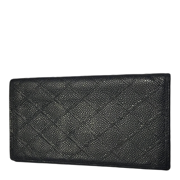 Chanel caviar leather black vintage wallet