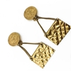 CHANEL 1980s Iconic 2.55 Flap Bag Gold Tone Vintage Earrings